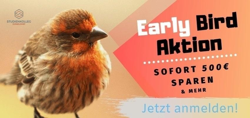 Early Bird Aktion Studienkolleg Düsseldorf