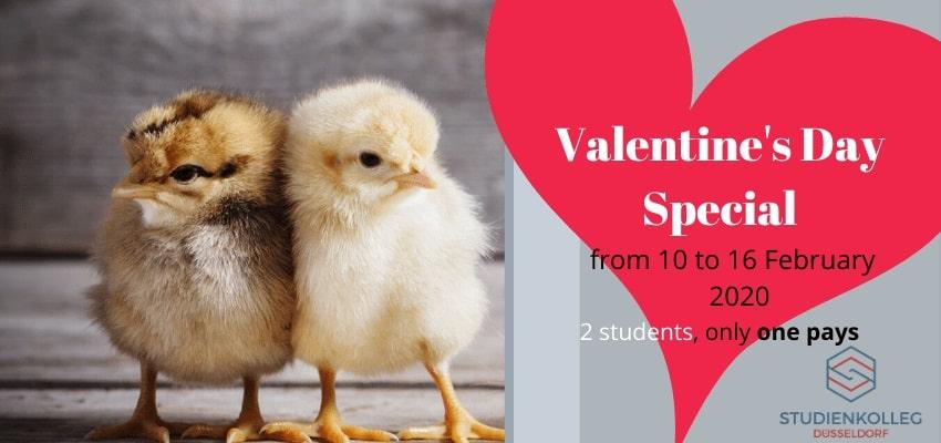 Valentine's Special Studienkolleg Düsseldorf